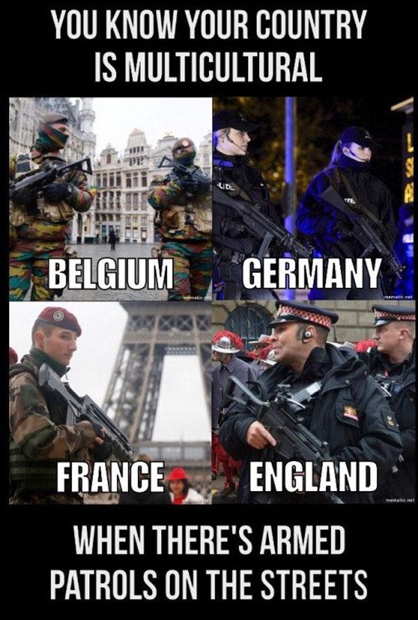 Irgendwie haben alle Länder mit muslimischer Massenmigration das selbe Problem. Finde es! #Date:08.2016#