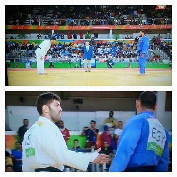 Bild zum Thema Bei den olympischen Spielen in Brasilien verweigert ein ägyptischer Judoko einem israelischen Sportler vor und nach dem Kampf den Handschlag. Vorname des Ägypters bezeichnenderweise Islam