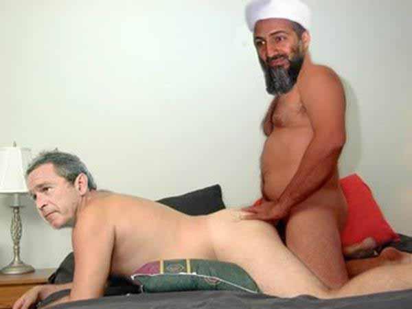 Bush lässt sich von Osama Bin Laden in den Arsch ficken #Date:#