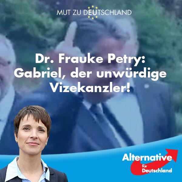 Benimmt sich so ein Vizekanzler? Sehr unwürdig eigentlich, aber nicht für Pack- und Nazi-Siechmar von der SPD #Date:08.2016#