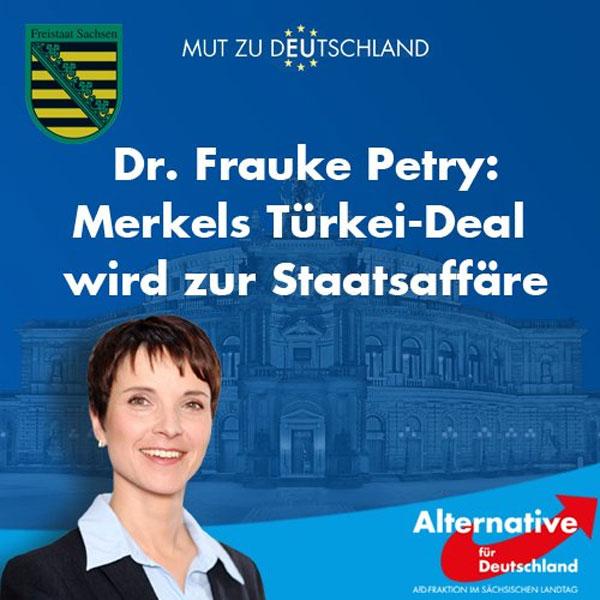 Der Türkei-Deal Merkel-Erdogan wird zur Staatsaffäre. Die Zahlungen müssen eingestellt werden. #Date:08.2016#