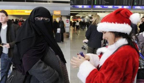 Innenminister Jäger SPD aus NRW (rot-grün) vergleicht ein Weihnachtsmannkostüm mit der Burka. #Date:08.2016#