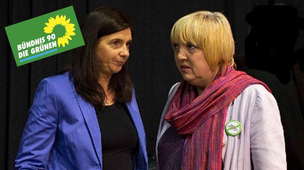 Bild zum Thema Die Hauptakteure des ideologisierten Moralpopulismus Katrin Göring-Eckardt und Claudia Roth von Bündnis 90/Die Grünen. Sie sagen Dir und mir, was gut ist und was nicht.