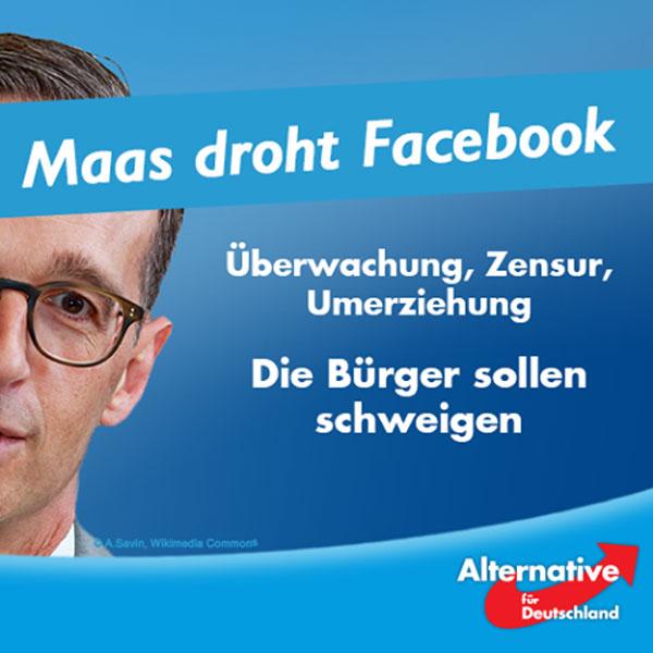 """Maas, Zensurmininster der  SPD in der GroKo ist das Sinnbild für Stasi 2.0: Überwachung, Zensur, Umerziehung. Die Bürger sollen schweigen. Angesichts der linksextremistischen Gewalt in Berlin, der rekordverdächtigen Einbruchszahlen und der islamistischen Terrorgefahr sollte man meinen, dass Justizminister Heiko Maas beschäftigt genug ist. Doch nein, er widmet sich lieber wieder seinem Lieblingsthema: der Überwachung der Bürger auf Facebook.  Facebook lösche zu langsam und zu oft auch das Falsche. Was das Richtige und das Falsche ist, bestimmt jedoch kein Gericht, sondern Herr Maas und seine Taskforce selbst.  Einen Leitfaden wie man User denunziert hat die Amadeu Antonio Stiftung bereits auf den Markt gebracht. Parallelen zur Türkei, wo die Polizei gerade die Bürger zur Denunziation in sozialen Medien auffordert, sind sicher nur zufällig….  In der Türkei warnt die Polizei vor """"schwarzer Propaganda"""", die über soziale Medien verbreitet werde. Sie empfahl den Bürgern, Screenshots anzufertigen und die Profilinformationen der verdächtigen Nutzer weiterzugeben.  Bei der Amadeu Antonio Stiftung liest sich das so:  Anzeigen und melden """"Deswegen immer Screenshots mit Zeitstempel fertigen. Aus dem Screenshot sollte auch die URL hervorgehen.""""  Erschreckend? In der Tat! Herr Maas wird langsam zu einer echten Gefahr für die deutsche Demokratie.  Zeit für Veränderung! Zeit für Wahlen! Zeit für die ?#?AfD?! #Date:08.2016#"""