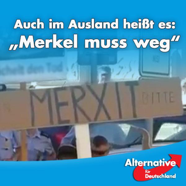 + Merkel im Ausland mit Buhrufen und Pfeifkonzerten begrüßt +  Den Auftakt ihrer großer Europa-Reise hatte sich die Bundeskanzlerin gewiss anders vorgestellt. Sowohl in Estland als auch in Tschechien wurde sie wegen ihrer Politik der offenen Grenzen ausgebuht. In Prag wurde sie gar mit
