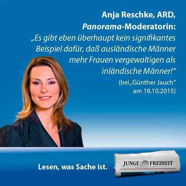 Anja Reschke ARD: es gibt keinerlei Hinweise auf vergewaltigende Rapefugees #Date:01.2016#