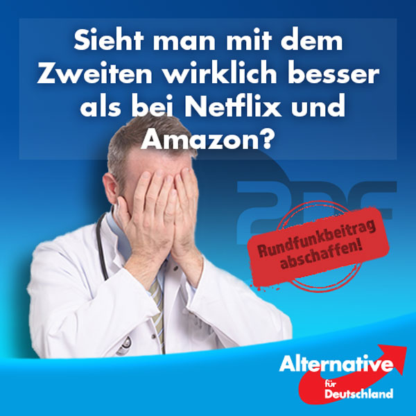 """""""Von unserem Angebot kann Netflix nur träumen""""... so wird ZDF-Programmdirektor Norbert Himmler in der FAZ zitiert.  """"Alle Welt lobt Netflix und Amazon, aber wer schaut auf die reichhaltigen Bestände unserer Mediathek? Wenn ich das alles addiere, dann haben wir Einschaltquoten und Abrufzahlen, von denen Netflix und Amazon in Deutschland nur träumen können.""""  In den Video-Diensten """"steckt einfach viel Geld drin, das bedeutet aber noch nicht gleich gutes Programm.""""  Lieber Herr Himmler, wenn viel Geld nicht gleich gutes Programm bedeutet, machen wir doch einen Test: Schaffen wir die Zwangsfinanzierung Ihres Senders einfach mal ab und schauen, wie gut Sie sich im Vergleich zu Netflix und Amazon schlagen.   Ein Netflix-Basis-Abo kostet 7,99 Euro im Monat und es ist monatlich kündbar. Trauen Sie das Ihrem Sender zu? Bei einem Angebot des ZDFs, auf das andere nur neidisch sein können, sollte das doch kein Problem sein...  Rundfunkgebühren abschaffen - jetzt!  http://www.faz.net/aktuell/feuilleton/medien/der-zdf-programmdirektor-norbert-himmler-staerkt-zdfneo-14402375.html #AfD #Date:07.2016#"""