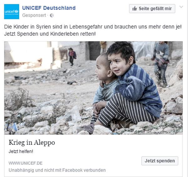 Diese Kinder in Syrien sind in Gefahr, weil deren Elten einen Religionskrieg vom Zaun gebrochen haben und dadurch dem IS und Al-Quaida und Al-Nusra den Einmarsch in Syrien ermöglicht haben.  Unterlassen Sie die Instrumentalisierung von Kindopfern zu Propagandazwecken.  Sie müssen einem Deutschen nicht erklären, was Kinder im Krieg zu erleiden haben.  Leider hat sich unsere Regierung dazu entschlossen, nicht Kinder, sondern kampfmüde Krieger in Deutschland aufzunehmen.  Sie haben recht, es ist pervers, was sich da abspielt. #Date:08.2016#