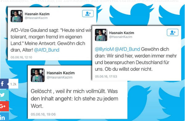 """Der """"deutsche"""" Journalist Hasnain Kazim arbeitet für Spiegel-Online und erklärt, wer in Deutschland das Sagen hat. #Date:09.2016#"""