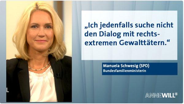 Die stellvertretende SPD-Vorsitzende und Bundesfamilienministerin Manuela Schwesig outet sich in ihrer Not immer mehr zu einer antidemokratischen Person, die ganz im Stil ihres großen Vorsitzenden Gabriel, ALLE Andersdenkenden in den Dreck zu ziehen versucht. #Date:09.2016#