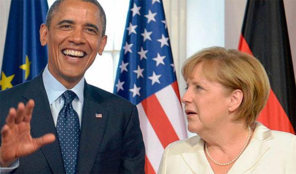 Bild zum Thema Obama erklärte bei seinem Abschiedsbesuch in Berlin, dass er Merkel wählen würde. Seine letzte Wahlempfehlung war übrigens Hillary Clinton, die dann furios die US-Wahlen verlor.