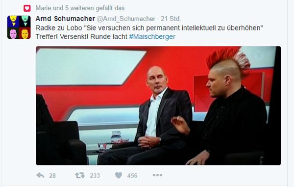 Busfahrer nimmt Sascha Lobo hopps bei Maischberger #Date:12.2016#