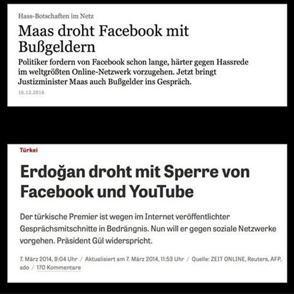 Bundesjustizminister Maas SPD und Erdogan - Brüder im Geiste. Für die Merkel-Regierung und Autokraten gleichermaßen stellt die mediale Gegenöffentlichkeit die größte Gefahr dar. #Date:12.2016#