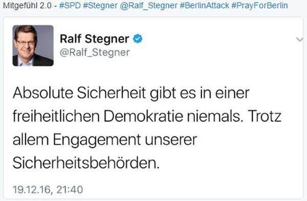 Die SPD und ihr Mitgefühl für die Opfer des LKW-Anschlags auf den Weihnachtsmarkt in Berlin am 19-12-2016 #Date:12.2016#