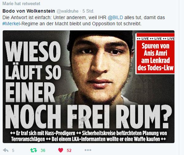 Bild zum Thema Anis Amri, tunesischer Attentäter von #truckjihad Berlin im Dezember 2016 war als Straftäter, Islamist und Gefährder bekannt. Trotzdem bewegte er sich ungeniert durch die gesamte Republik. Bis es krachte. Mindestens 14 Tote und zig Verletzte in Berlin auf dem Weihnachtsmarkt