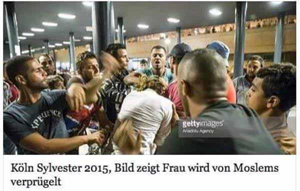 Deutschland. Frau wird von Moslems verprügelt. #Date:01.2016#