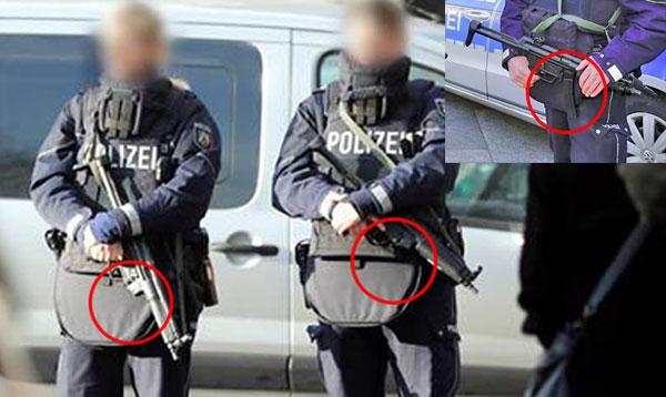 Polizistinnen in  Köln  ohne Magazin in den Maschinenpistolen bewachen Weihnachtsmarkt in Köln nach dem #TruckJihad in Berlin mit mindestens 14 Toten. #Date:12.2016#