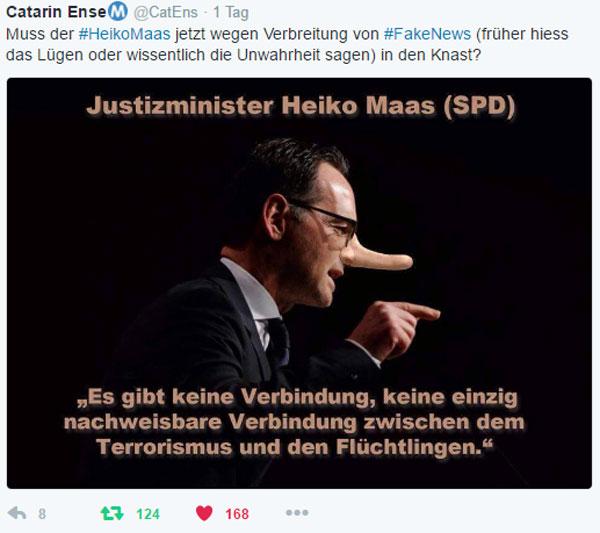Bild zum Thema Deutschlands oberster FakeNews Lügenbaron, Bundesjustizminister Heiko Maas, steuert wohl nach seinen eigenen Vorgaben auf eine Knastkarriere zu.