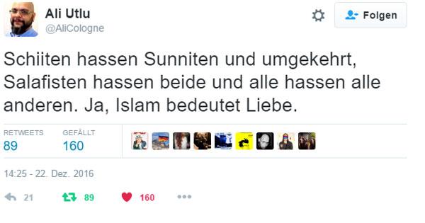 Ganz Syrien in einem Post. Schiiten hassen Sunniten und umgekehrt, Salafisten hassen beide und alle hassen alle anderen. Ja, Islam bedeutet Liebe. #Date:12.2016#