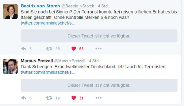 Man muss nicht wissen, was der Merkel-Intimus Armin Laschet auf Twitter getextet hat. Den Schrott kann sich jeder vorstellen.  #Date:12.2016#