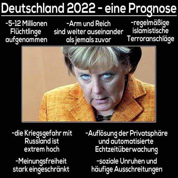 Die Prognose für Deutschland. Was richtet die Besessene noch an? Merkel-Monster #Date:12.2015#