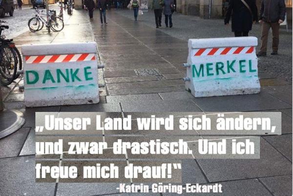 Bild zum Thema Unser Land wird sich ändern, und zwar drastisch. Und ich freu mich drauf. Katrin-Göring-Eckardt, B'90/Grüne