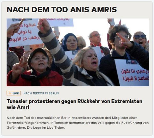 In Tunesien protestiert die Bevölkerung heftig gegen die Rückführung von Gefährdern aus Europa. Die waren froh, dass ihnen Merkel die Verbrecher abgenommen hat. #Date:12.2016#