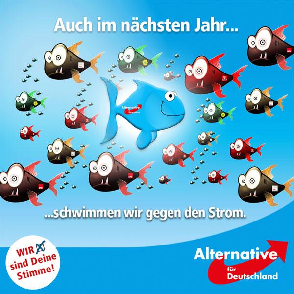 Die Alternative für Deutschland schwimmt gegen den Strom, auch im Jahr 2017 #Date:12.2016#