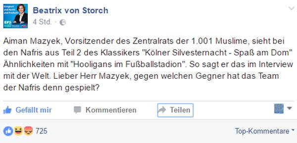 """Aiman Mazyek, Vorsitzender des Zentralrats der Muslime in Deutschland (ZMD), der gerne von """"unserer Gesellschaft"""" schwafelt, hält die Vorkommnisse Silvester zu Köln für ein sportliches Ereignis. #Date:01.2017#"""