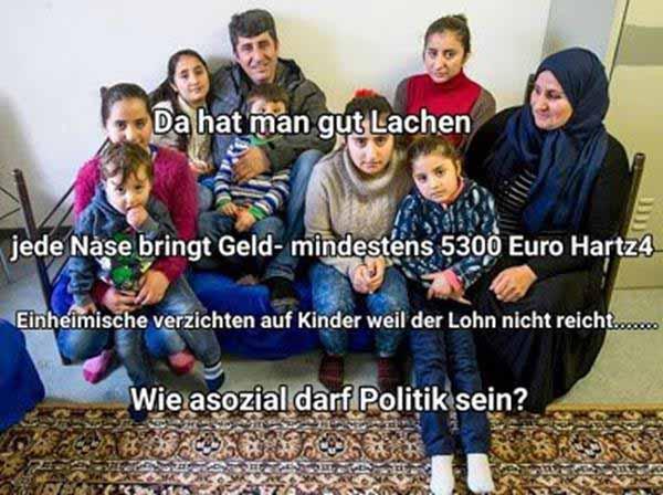 Refugees Großfamilie mit fettem Geldbudget. #Date:12.2015#