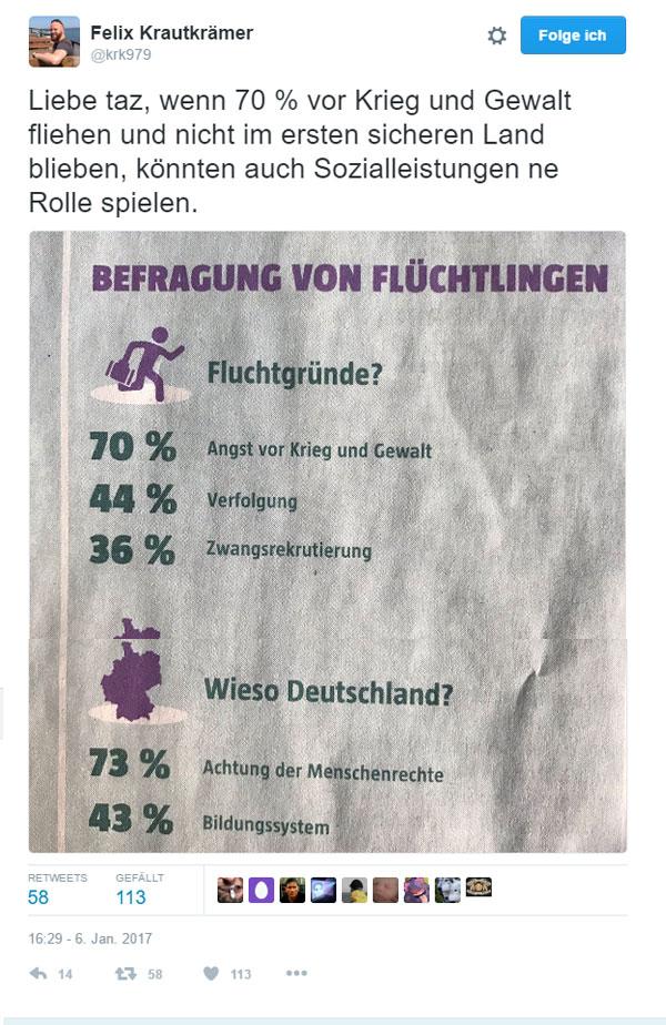 Bild zum Thema Angeblich fliehen 70% aller Flüchtlinge vor Krieg und Gewalt. Seltsamerweise aber nicht bis in den nächsten sicheren Staat, sondern exakt bis nach Deutschland. Ein Schelm wer soziale Gründe hierfür einwirft.