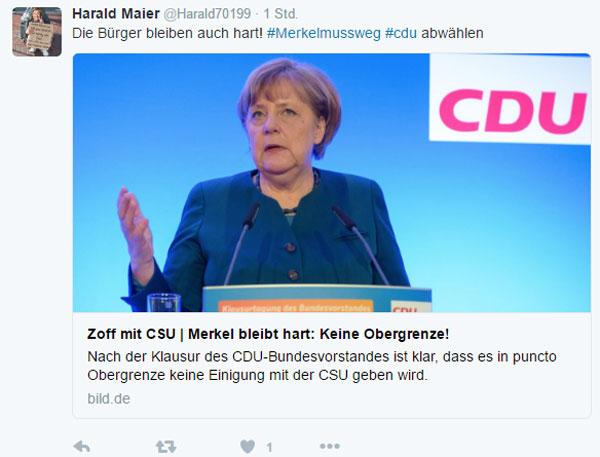 Bild zum Thema Merkel bleibt hart, die Bürger bleiben härter
