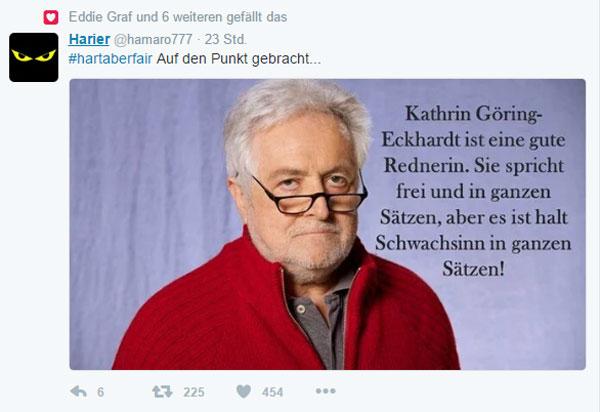 Bild zum Thema Henry M. Broder über die GRÜNE Katrin Göring-Eckhardt