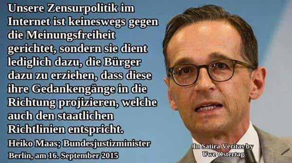 Zensurminister Heiko Mittelmaß Maas #Date:12.2015#