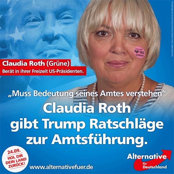 """Was ist flüssiger als Wasser?   Claudia Roth von B""""90/Grüne - sie ist überflüssig!  #Date:#"""