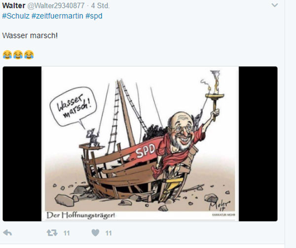 Bild zum Thema Vielen Dank, SPD, für diesen genialen Streich mit Martin Schulz an der Spitze.