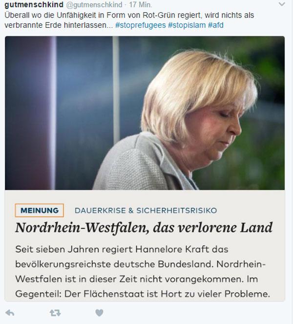 Bild zum Thema Rotgrün in Hochkultur. Bestens demonstriert in NRW. Aber Hannelore Kraft mit großer Klappe.