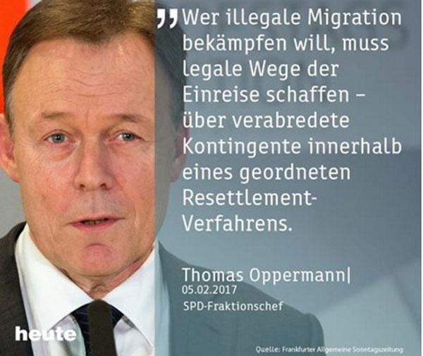 SPD befürwortet das Resettlement-Programm. Die SPD befürwortet das Umsiedlungsprogramm der UNHCR. Demnach sollen in einer gezielten Aktion jährlich bis zu 20.000 Flüchltinge DAUERHAFT in der EU angesiedelt werden. Diese sogenannten Mandatsflüchtlinge werden von der UNHCR direkt an die Aufnahmestaaten weitergeleitet. Klar, dass unsere Sozen sofort dabei sind. Ohne Sinn und Zweck. Die lernen es einfach nicht. Machbare Hilfe dort, wo Hilfe gebraucht wird. Keine Luxushilfe für Wenige. Alter Schwede. :v #Date:02.2017#