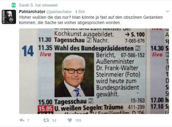 Bild zum Thema Die Show Wahl des Bundepräsidenten