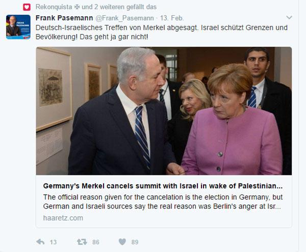 Das geht gar nicht, Schein-Merkel  Also nein, Frau Merkel mit solchen Staaten, die nicht auf ihre Bürger pfeifen und diese durch sichere Grenzen schützen, sollte man sich nicht treffen.  Es muss ja auch nicht jeder wissen, dass deutsche Firmen eine gigantische Grenzbefestigung um Saudi-Arabien bauen und sie gleich noch ein paar Bundespolizisten als kleine Aufmerksamkeit an die Moslems mitgeschickt haben. Nein, Frau Merkel, es ist auch nicht schlimm, dass der 30 km breite Grenzstreifen von der saudischen Luftwaffe freigebombt wurde, weil die dort Lebenden nicht weichen wollten.   Alles klaro, Angela, Schön beten, dann schlafen. Ein ruhiges Gewissen ist ein gutes Ruhekissen. #Date:02.2017#