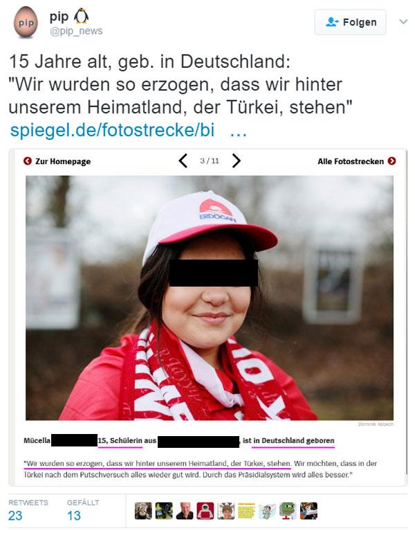 Bild zum Thema Alles sehr seltsam Was bei Türken in Deutschland normal ist, ist bei Deutschen in Deutschland Nazi. Also, sagen jedenfalls die meinungsdominanten antideutschen Selbsthasser.