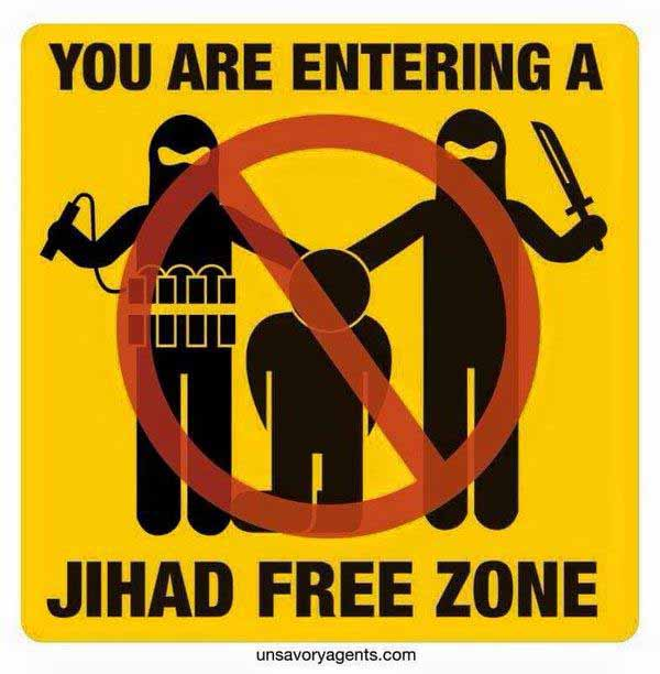 You are entering Jihad FREE ZONE #Date:12.2015#