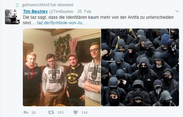 Bild zum Thema Prost und nochmal Prost, Rotfunk-Journalisten  Die Presse vergleicht die Identitäre Bewegung mit den linksautonomen Gewaltfaschisten der Antifa.  Zum Wohl in feuchter Runde, Pressefritzen!
