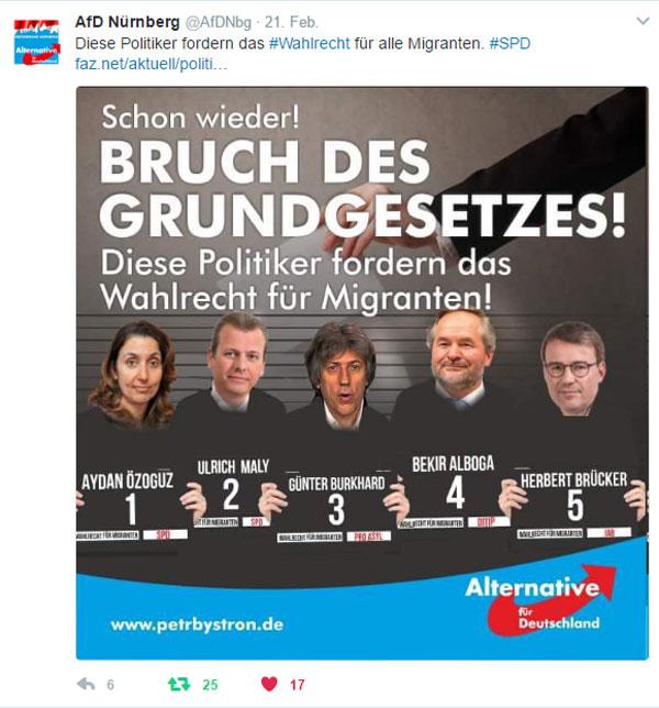Ja schau amol. Der kla SPD-Maly aus Nirnberch reisst a sei Goschn auf. #Date:02.2017#