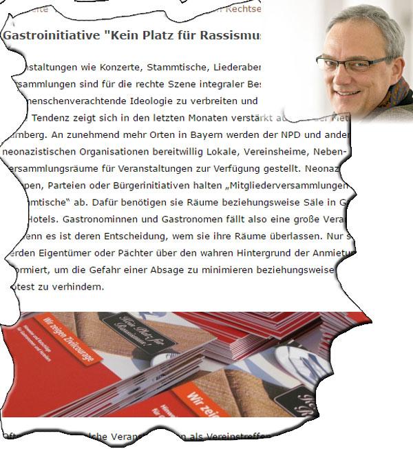 Bild zum Thema  SPD-MdL Florian Ritter mit Antifa-Methoden  Der SPD Landtagsabgeordnete Florian #Ritter aus München arbeitet mit Mitteln der Antifa, sozusagen als Anzug-Antifant.  Ganz im Sinne der sogenannten #GASTROINITIATIVE (https://www.nuernberg.de/internet/menschenrechte/gastroinitiative.html) wird massiv Einfluss auf Wirte und Wirtinnen genommen, um Treffen von andersdenkenden politischen Gruppen durch die Verweigerung von Räumlichkeiten zu verhindern.  In diesem Falle hat Ritter den Bayerischen Hotel- und Gaststättenverband zu einer Warnung an seine Mitglieder veranlasst, einem von Ritter der Reichsbürgerszene zugeordneten Vortragsveranstalter keine Räumlichkeiten zur Verfügung zu stellen.  Über Reichsbürger brauchen wir nicht diskutieren. Ein Haufen Durchgeknallter ohne Bezug zur Realität.  Darum geht es aber gar nicht. Nach genau derselbe Methode wird  noch immer versucht, auch AfD-Veranstaltungen zu verhindern.  Noch immer ist die AfD gezwungen, sich größtenteils konspirativ zu verhalten, um die kooperierenden Wirte zu schützen.  Man kann getrost davon ausgehen, dass diese Beeinträchtigung der #Bürgerinformation einen zweistelligen Prozentsatz an Verlust in der Wählergunst bedeutet. Insofern geht der Plan der #Undemokraten perfekt auf.  Laut Art. 21 (1) Grundgesetz wirken die Parteien an der politischen Willensbildung der Bürger mit. Dies setzt voraus, dass sie hierbei nicht vorsätzlich behindert werden.  Der smarte Sozi Florian Ritter sollte als Landtagsabgeordneter in Bayern auf dem Boden des Grundgesetzes stehen.  Letztlich ist es egal, ob der grundgesetzliche Parteienauftrag durch einen vermummten schwarz gekleideten Mob oder durch einen sich als feinen Herrn gerierenden #Schreibtischtäter sabotiert wird.  Jaja, soll man nicht glauben, mit welchen Methoden die feinen Sozen-Herrschaften so unterwegs sind. :v