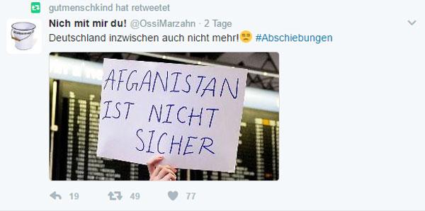 Bild zum Thema Afghanistan ist nicht sicher. Deutschland inzwischen auch nicht mehr. Wer geht für Deutschland auf die Straße?