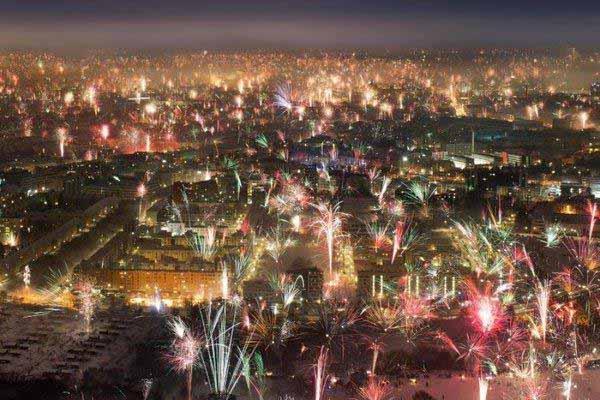 Neujahr wie es in Deutschland einmal war. Unbeschwert und ohne Einschränkungen #Date:12.2015#