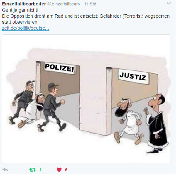 """Gefährder wegsperren statt observieren  Die bayerische CSU-Landesregierung hat einen Gesetzentwurf eingebracht, wonach terroristische Gefährder unbefristet inhaftiert werden können. Bislang sind in den Bundesländern 2 bis 14 Tage vorgesehen.  Die Kommentare von Juristen und libertären grün-sozialistischen Kreisen reichen hierzu von """"beängstigend"""" bis """"Verfassungsbruch"""".  Selbstverständlich ist die Initiative der CSU durchaus begrüßenswert und nachvollziehbar, jedenfalls für den nicht-versifften Bürger.  Was aber nichts daran ändert, dass die CSU es nicht durchsetzen kann, dass diese Leute erst gar nicht nach Deutschland gelangen und hier die Möglichkeit haben, in einer schier unüberschaubaren Masse an """"Neuzugewanderten"""" unterzutauchen.  Das wäre Schritt 1, werte CSU. Und genau das, schafft ihr NICHT. :v  http://www.zeit.de/politik/deutschland/2017-02/gefaehrder-bayern-inhaftierung-antiterrormassnahmen-definition #Date:02.2017#"""