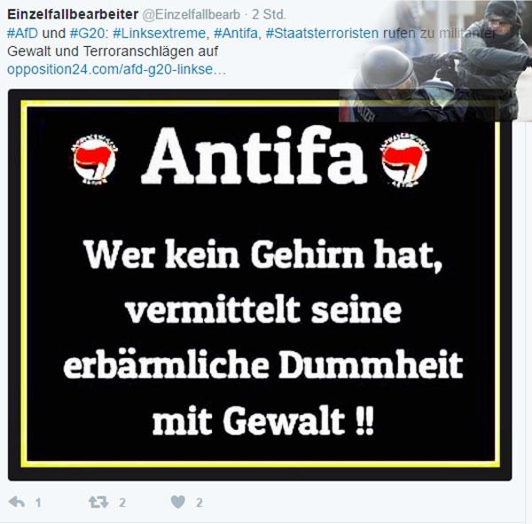 Bild zum Thema Zu 100% unterschrieben  Dumm, dümmer, Antifa     #antifa  #anarchie #antidemokraten