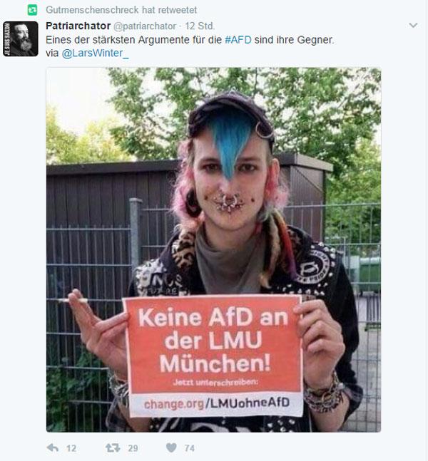 Bild zum Thema Eines der besten Argumente für die AfD sind ihre Gegner. Bingo